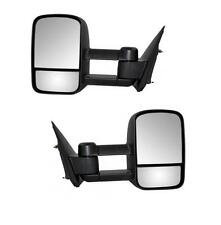 Black 99-06 Silverado Sierra Pickup Towing Manual Telescoping Mirrors LH RH Pair
