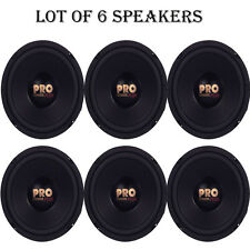 """Lot of 6 NEW Pyramid W64 Woofers 6.5"""" 400W MidBass Poly Woofer Midrange Speakers"""