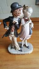 A RARE CAPODIMONTE FIGURINE OF TWO LOVERS SIGNED BY G ARMANI
