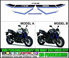 kit adesivi stickers compatibili  fz8 blu race 2015