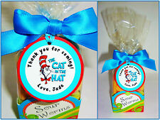 30  Dr Seuss The Cat in the Hat personalized gift tags birthday party favors