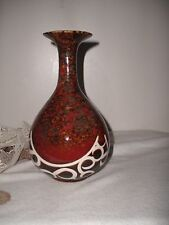 Gorgeous Antique Chinese Brown Earth Colors Porcelain/Pottery Glazed Vase #61246