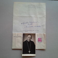 IGNATIUS SCHACHERMAIR OSB ABT Kremsmünster 1929-70 signed signiert Brief 20x30