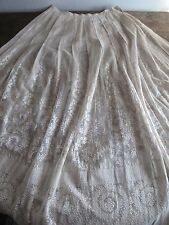 Antique Edwardian Lace Skirt - Branches