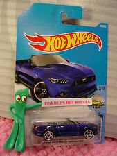 2015 FORD MUSTANG GT CONVERTIBLE #104✰blue✰Factory✰2017 i Hot Wheels Case E/F