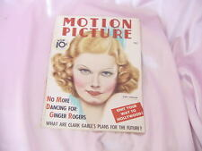 OLD MAY 1936 MOTION PICTURE MOVIE MAGAZINE JEAN HARLOW COVER NR