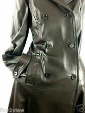 Danier Leather Women's Double Breasted Trench Coat Brown Size US Small/UK.12-14