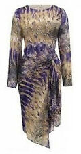 TWIGGY For M&S WOMAN Snakeskin Print Drape Asymmetric Hem Chiffon Dress BNWT