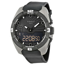 Tissot TTouch Expert Solar Digital Black Leather Mens Watch TIST0914204606100