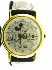 MICKEY MOUSE SIXTY  YEARS  GENTLEMAN  WATCH /leather band