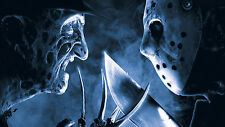 "Halloween Freddy Krueger Vs. Jason   Photo Poster 8.5""x11"" Decoration Nightmare"