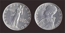 VATICANO 10 LIRE 1952 - PIO XII - FDC/UNC FIOR DI CONIO