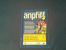 Programm Carl Zeiss Jena - FC Rot Weiß Erfurt 11/12