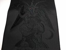 BAPHOMET GOAT  BLACK IN BLACK EMBROIDERED BACK PATCH
