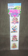 MUPPET BABIES-JIM HENSON:LIME SCRATCH & SNIFF STICKERS 1 pk=VINTAGE 1985