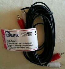 Skymaster - Audio - 2 x Chinch-Stecker auf 2 x Chinch-Stecker - 5 m - neu - RCA