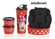 TUPPERWARE New MINNIE MAGICAL SNACK SET Disney Tumbler, Big Wonders, Snack Cups