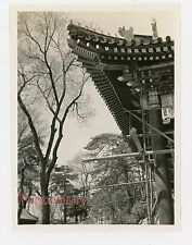 Pre WW2 1938 China Photograph Peking Summer Palace Building Roof Detail Beijing