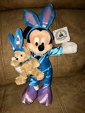 "NWT DISNEY DUFFY BEAR WTH MICKEY MOUSE PLUSH EASTER 14"" TALL *SUPER CUTE* RARE"
