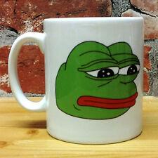RARE PEPE THE SAD FROG MUG 11oz CUP GIFT PRESENT FUNNY MEME RARE DANK MEMES