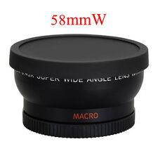 58mm 0.45X Wide Angle Lens for Canon EOS 1000D 1100D 500D 550D 600D 400D 450D UK