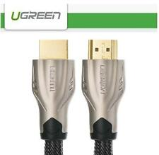 UGREEN 2K 4K Zinc Alloy HDMI Cable (Flat)  HDTV PS4 PC 1080P Support 3D HDCP -1m