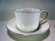 WEDGWOOD BONE CHINA COLOSSEUM PLATINUM CUP AND SAUCER UNUSED PLATINUM BORDER
