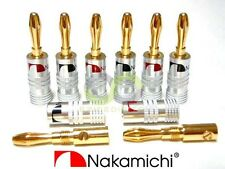 10x Nakamichi 24k Gold Plated Audio Banana Speaker Plug Screw Cable & Wire Diy
