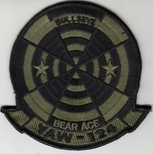 VAW-124 BEAR ACE OD GREEN COMMAND CHEST PATCH