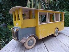 Antique wooden toy bus beautiful toy original condition shop playroom collector