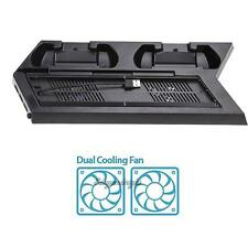 Vertical Stand Cooling Fan with Dual Charging Dock Station for Sony PS4/PS4 Slim
