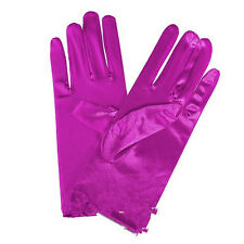 Ladies Short Wrist Gloves Smooth Satin For Party Dress Prom Evening Wedding