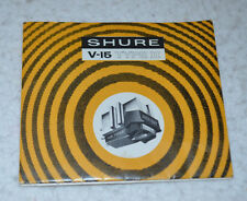 VINTAGE SHURE V-15 tipo II (tipo 2) cartridge stylus User Manual