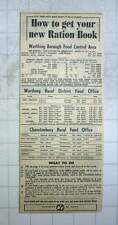 1949 How To Get Your New Ration Book In Worthing