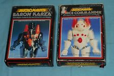 vintage Mego Micronauts FORCE COMMANDER & BARON KARZA IN BOX lot