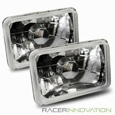 7x6 H6014/H6052/H6054 Chrome Diamond Crystal Square Headlights Conversion