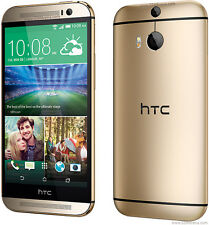 "HTC One M8 4G LTE 32GB 2GB RAM 5"" Android GPS NFC Libre TELEFONO MOVIL Oro Gold"