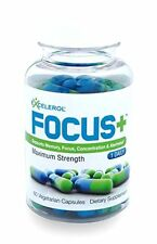 Brain Supplement FOCUS+ by Excelerol - Dr. Recommended Brain Pill - Supports
