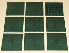LEGO LOT OF 9 NEW 6 X 6 DOT SMOOTH DARK GREEN TILES SIDEWALK CITY TOWN PARTS
