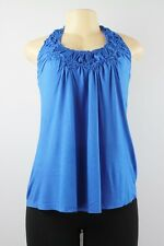 Urban Behavior sleeveless lace back top blue size XS