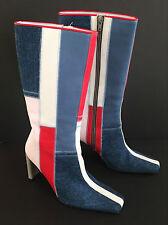 DoDiCi Boots sz 37 US 6 Vintage Retro 70s Style leather demin Disco EXCELLENT CO