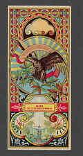 Ancienne  grande  étiquette  allumettes Fez   Tchécoslovaquie  Aigle
