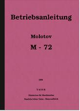 Molotov M 72 Gespann Reparaturanleitung und Bedienungsanleitung Handbuch M72
