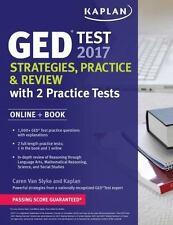 GED Test 2017 Strategies, Practice & Review with 2 Practice Tests: Online + Boo
