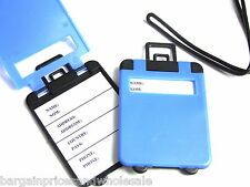 1pc BLUE Holder Tag Luggage  Label Address ID Baggage Suitcase ID Travel