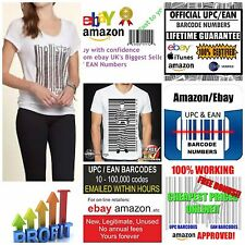 5000 Ean Barcodes working at ebay amazon best | cheapest 100% Valid GS1 Ean Code