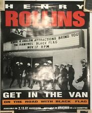 GET IN THE VAN ON THE ROAD WITH BLACK FLAG, PROMOTIONAL POSTER RARE