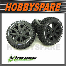 4 x LOUISE RC 1/8 BUGGY PIONEER OFFROAD TYRE WHEEL RIM PRE MOUNTED Hobao Redcat