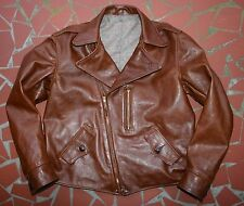 MONARCH 30's  AVIATOR STYLE SIZE 44 HALF BELT ITALIAN LEATHER HORSE HIDE JACKET