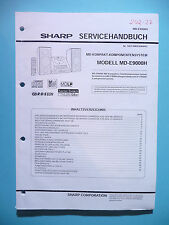 Service manual-Manuel sharp md-e9000h, original